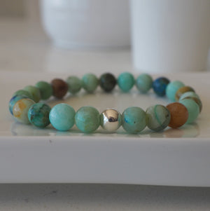 Turquoise Gemstone Bracelet Canadian made by Wallis Designs