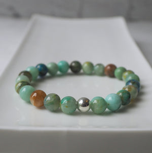 Chrysocolla Gemstone Bracelet by Wallis Designs in Canada