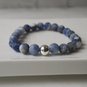 Blue Gemstone Bracelet Canadian Made by Wallis Designs