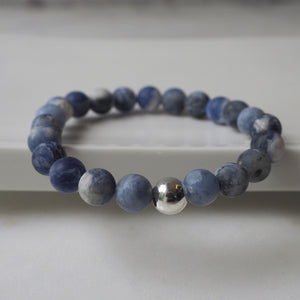 Sodalite Gemstone Bracelet by Nancy Wallis Designs in Canada