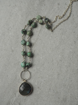 Sterling Silver Gemstone Necklace by Wallis Designs