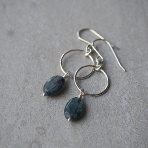 Blue Kyanite Gemstone Earrings made in Canada