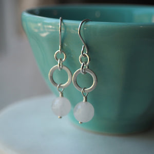 Love Shines Silver Drop Earrings