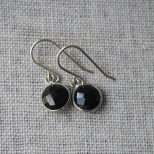 Black Onyx Sterling Silver Earrings by Nancy Wallis Designs