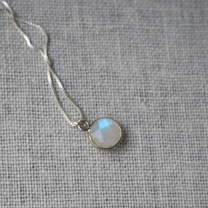 Moonstone sterling silver necklace made in Canada