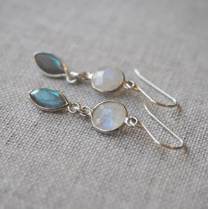Elegant Gemstone Earrings Sterling Silver
