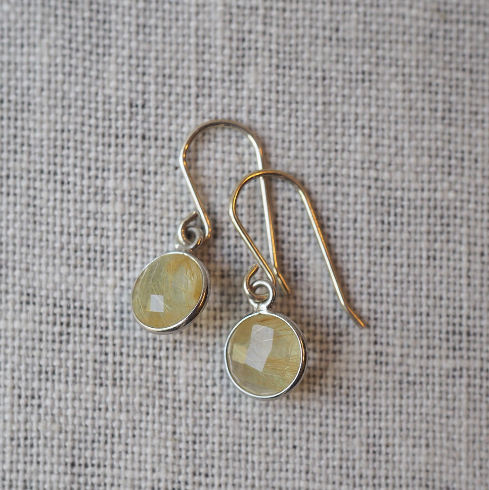 Golden Quartz Earrings by Nancy Wallis Designs