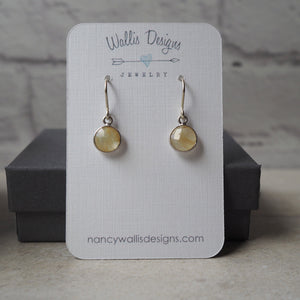 Yellow Gemstone Earrings in Sterling Silver