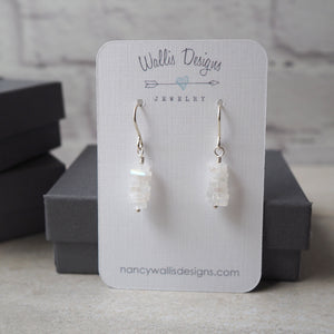 Gemstone Earrings with Moonstone made in Canada