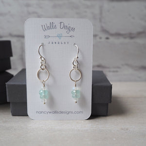 Dainty gemstone earrings by Nancy Wallis Designs