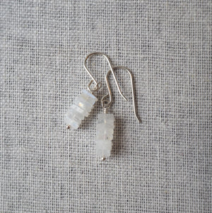 Moonstone and Silver Gemstone Earrings by Wallis Designs
