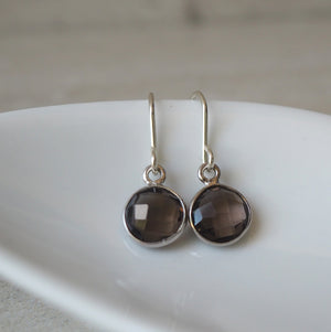 Smokey Quartz Gemstone Earrings by Nancy Wallis Designs