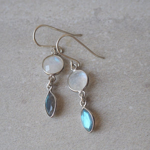 Full Moon Gemstone Earrings