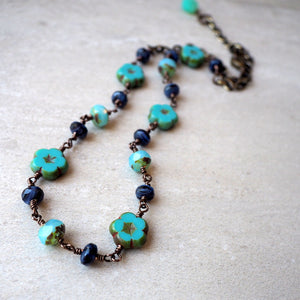 Casual beaded necklace by Wallis Designs in Canada