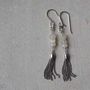 Long Gemstone Tassel Earrings (148)