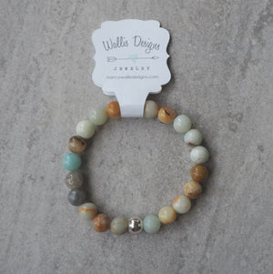 Amazonite Stretch Bracelet gemstone bracelet in Canada