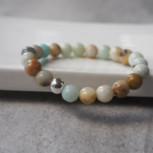 Black Gold Amazonite Bracelet by Nancy Wallis Designs