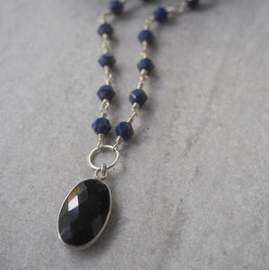 Made in Canada Gemstone Necklace with Lapis Lazuli