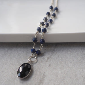 Lapis Lazuli Silver Necklace made in Canada