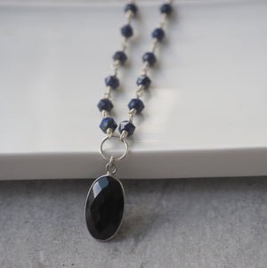 Lapis Lazuli Sterling Silver Necklace made in Canada