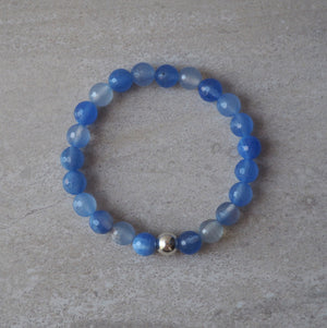 Periwinkle Stone Stacking Bracelet made in Canada