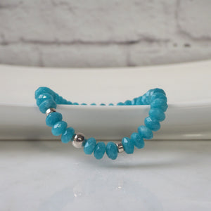 Stretch Bracelet with Agate Gemstones by Wallis Designs