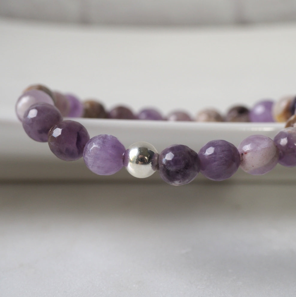 Dog Teeth Amethyst Stone Bracelet by Wallis Designs