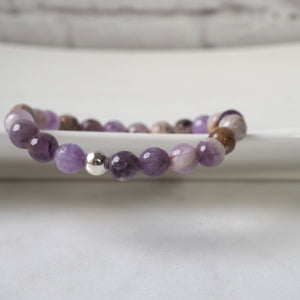 Purple Stone Bracelet by Nancy Wallis Design in Canada
