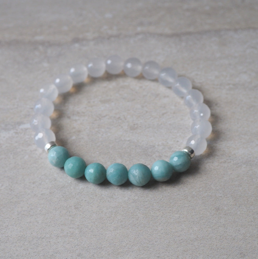 Gemstone Stretch Bracelet by Nancy Wallis Designs