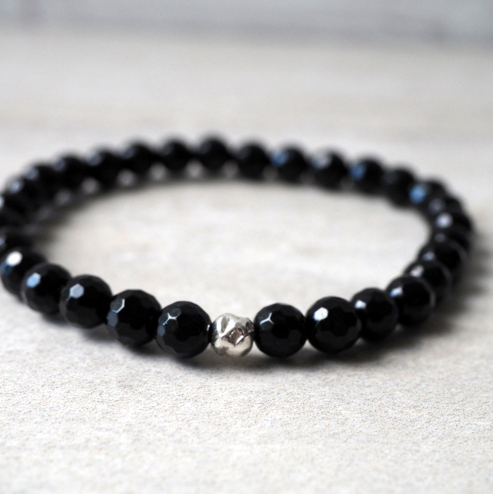 Elegant Black Onyx Bracelet by Wallis Designs in Canada
