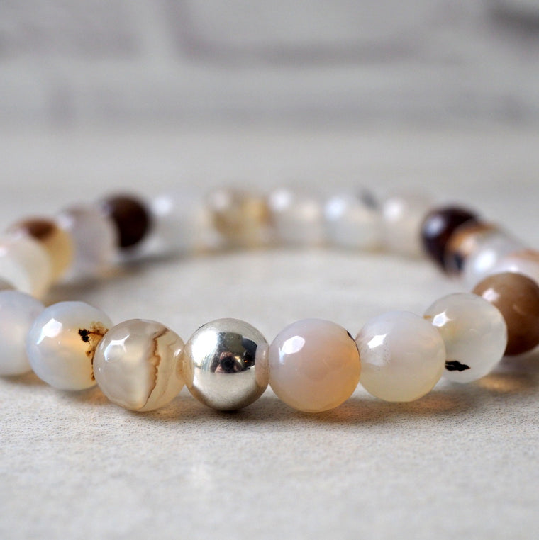Mixed Agate Bracelet by Nancy Wallis Designs in Canada