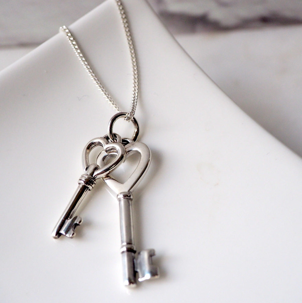 Silver Key Necklace by Wallis Designs in Canada