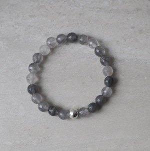 Multi tones of gray stone bracelet made in Canada