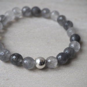 Grey Quartz Bracelet by Nancy Wallis Designs in Canada