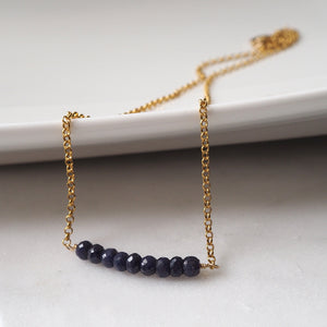 Nightfall Sapphire and Gold Necklace as Seen on Supernatural