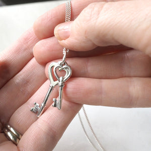 Love Key Pendant with Sterling Silver Chain in Canada
