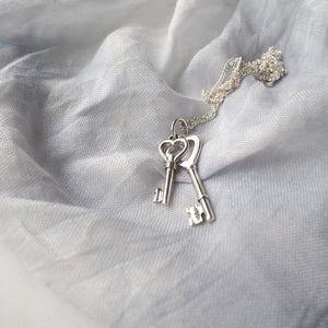 Gift for Her Love Key Necklace by Wallis Designs