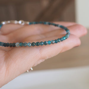Blue Apatite Micro Gemstone Bracelet by Wallis Designs