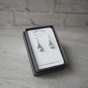 Blue Topaz Sterling Silver Earrings by Wallis Designs