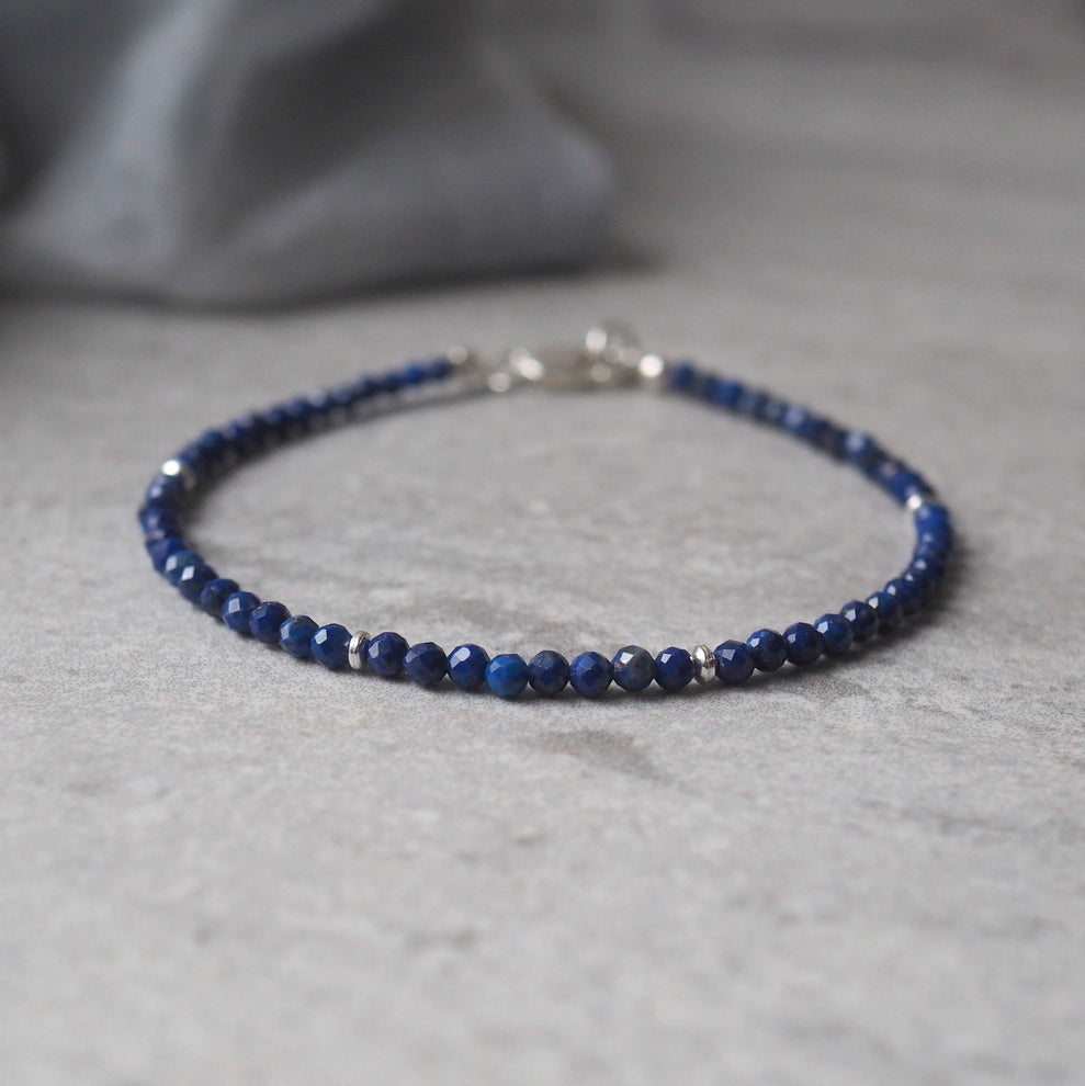 Lapis Lazuli Gemstone Bracelet by Nancy Wallis Designs