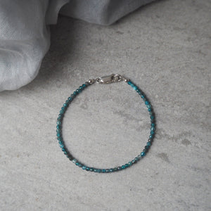Blue Apatite Gemstone bracelet by Nancy Wallis Designs