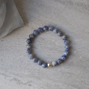 Gemstone Bracelet with Navy Blue Jasper Stone