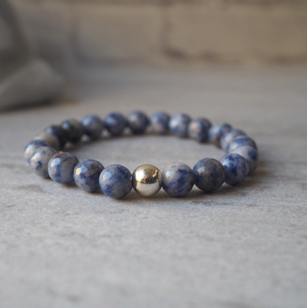 Denim Jasper Gemstone Bracelet by Nancy Wallis Designs