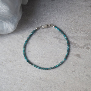 Micro Gemstone Bracelet with Blue Apatite by Wallis Designs