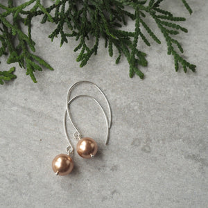 Christmas Gift Guide Modern Pearl Earrings in Canada