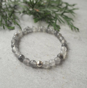 Holiday Gift Guide Grey Quartz Gemstone Bracelet