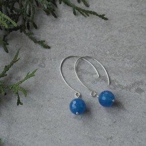 Modern Gemstone Earrings with Blue Agate in Wallis Designs