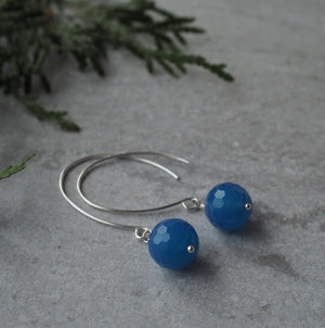 Blue Agate Gemstone Earrings by Nancy Wallis Designs