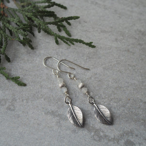 Sterling Silver Earrings with Moonstone Gemstones