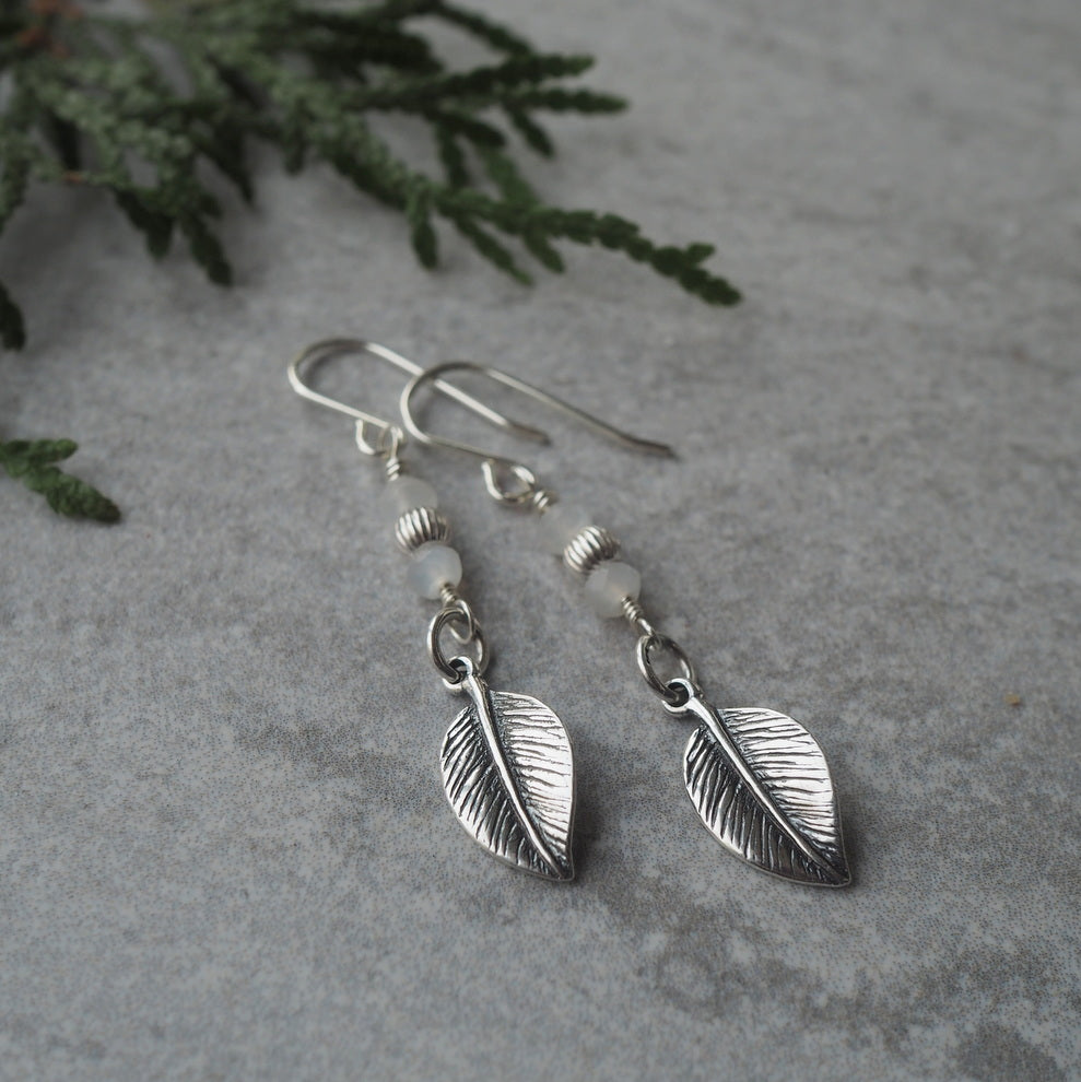 Leaf Earrings for the Nature Lover by Wallis Designs